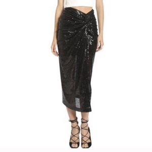 NWT Belle Badgley Mischka Jai Sequined Skirt